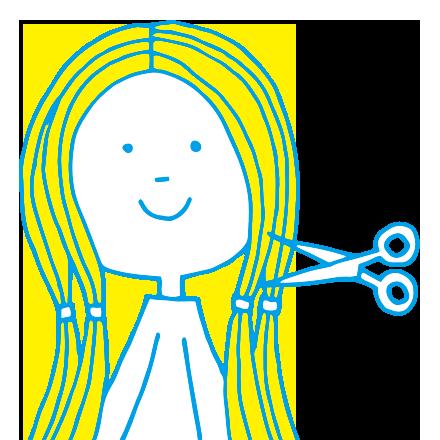髪の毛を送る